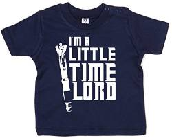 Dirty Fingers, I'm a Little Time Lord, Baby T-Shirt, 6-12m, Dunkelblau von Dirty Fingers