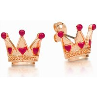 Damen Disney Couture Alice in Wonderland Queen of Hearts Stud Ohrringe vergoldet DRE0724 von Disney Couture
