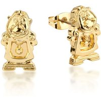Damen Disney Couture Beauty & the Beast Cogsworth Stud Ohrringe vergoldet DYE228 von Disney Couture