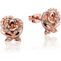 Damen Disney Couture Beauty & the Beast Crystal Rose Ohrringe rosévergoldet DRE211 von Disney Couture
