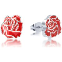 Damen Disney Couture Belle Multi-part Rose Ohrringe versilbert DSE366 von Disney Couture