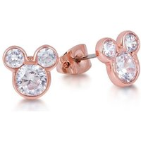 Damen Disney Couture Kristall Crystal Mickey Mouse Head Stud Ohrringe PVD rosévergoldet DRE456 von Disney Couture