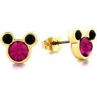 Damen Disney Couture Kristall Minnie Mickey Mouse Pink Crystal Stud Ohrringe PVD vergoldet DYE0830 von Disney Couture