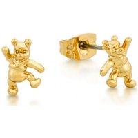 Damen Disney Couture Winnie the Pooh Stud Ohrringe vergoldet DJE141 von Disney Couture