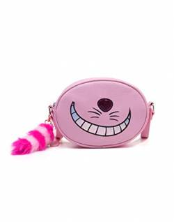 DISNEY Disney Alice In Wonderland Cheshire Cat Shaped Shoulder Bag with Shoulder Strap Kosmetiktäschchen 23 Centimeters Pink von Disney