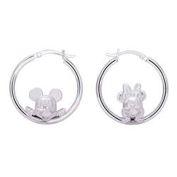 Disney Mickey And Minnie Mouse Jewelry for Women and Girls, Sterling Silver Mickey And Minnie Hoop Earrings Mickey's 90th Birthday Anniversary von Disney