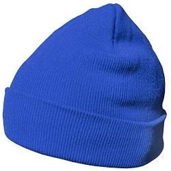 869e8378e3c1c2 DonDon Wintermütze Mütze warm klassisches Design modern und weich blau von  DonDon