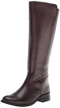 Driver Club USA Damen Leather Luxury High Top Riding Boot Kniehoher Stiefel, Brauner Nappa, 35.5 EU von Driver Club USA