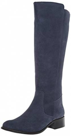 Driver Club USA Damen Leather Luxury High Top Riding Boot Kniehoher Stiefel, Marineblau (Veloursleder), 38.5 EU von Driver Club USA