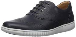 Driver Club USA Herren Geuine Leather Wingtip Oxford with Sneaker Sole Stiefelette, Navy Grainy, 44 EU von Driver Club USA
