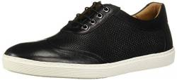 Driver Club USA Herren Leather Brooklyn Basket Wingtip Sneaker Turnschuh, Schwarzer Nappa-/Mini-Korb, 44 EU von Driver Club USA