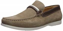 Driver Club USA Herren Leather Eva Lightweight Technology Slip on Braid Detail Loafer Halbschuhe, Braungrau-Taupe Suede, 38.5 EU von Driver Club USA