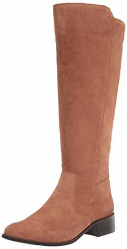 Driver Club USA Womens Leather Luxury High Top Riding Boot, Camel Suede, 5 M US von Driver Club USA