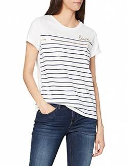 ESPRIT Collection Damen 069EO1K018 T-Shirt, Weiß (White 100), X-Small (Herstellergröße: XS) von ESPRIT Collection