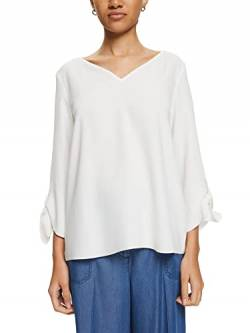 ESPRIT Collection Damen 990EO1F305 Bluse, Weiß (Off White 110), 34 von ESPRIT Collection