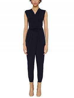 ESPRIT Collection Damen 997EO1L800 Jumpsuit, Blau (Navy 400), Large (Herstellergröße: L) von ESPRIT Collection