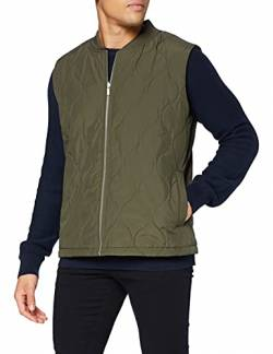 ESPRIT Collection Herren 080EO2H301 Weste, 355/DARK Khaki, L von ESPRIT Collection