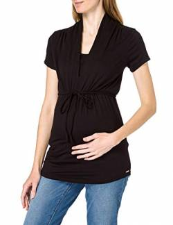 ESPRIT Maternity Damen Nursing ss T-Shirt, Black-001, XL von ESPRIT Maternity