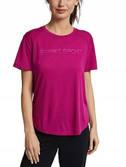 ESPRIT Sports Damen t s-Sleeve Yoga-Shirt, 625/BERRY RED, XS von ESPRIT Sports