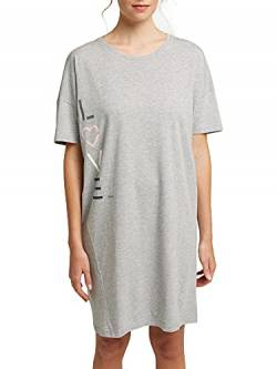 ESPRIT Bodywear Damen GOLDAH CAS NW Nightshirt Nachthemd, Light Grey (040), 36 von ESPRIT