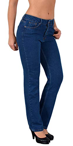 ESRA Damen Jeans Jeanshose Damen High-Waist Hochbund Hose bis /Übergr/ö/ße S400