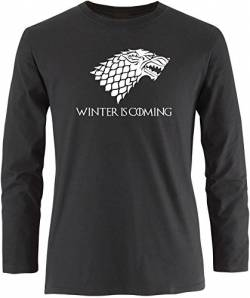 EZYshirt® Game of Thrones | Winter is coming | Schattenwolf Herren Longsleeve von EZYshirt