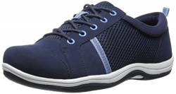 Easy Street Buffy Fashion Sneaker für Damen, Blau (Marineblaues Leder/Stoff), 39 EU von Easy Street