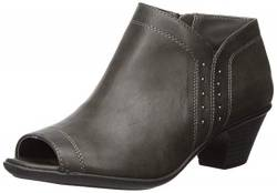 Easy Street Women's Voyage Open Toe Bootie with Mini Studs Ankle Boot, Grey, 6 2W US von Easy Street
