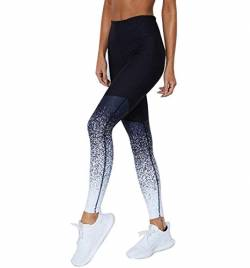 Eaylis Damen Hohe Taille Sport Leggings, Damen Sport Leggings, Gradient Yoga Sporthose, Damen Leggings, Classics Stretch Workout Fitness Jogginghose (Blau, Large) von Eaylis Leggings