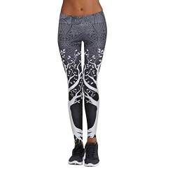 Eaylis Damen Hohe Taille Sport Leggings, Damen Sport Leggings, Gradient Yoga Sporthose, Damen Leggings, Classics Stretch Workout Fitness Jogginghose (Grau-1, M) von Eaylis Leggings