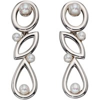 Damen Elements Cultured Pearl Drop Ohrringe Sterling-Silber E5358W von Elements