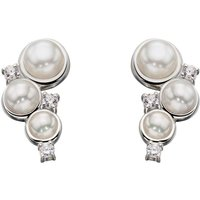 Damen Elements Cultured Pearl Stud Ohrringe Sterling-Silber E5359W von Elements