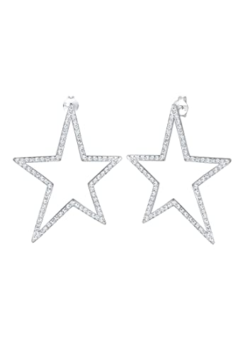 Echt 925 Sterling Silber Ohrringe Perlmut Ornamente Hochzeit Zirkonia Nr 41