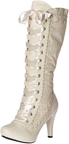 Ellie Shoes Women's 414-Mary Boot, White, 10 M US von Ellie Shoes