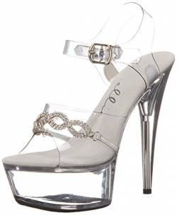 Ellie Shoes Women's 609-TIFFANY, Clear, 8 B US von Ellie Shoes