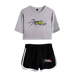 Stray Kids T-Shirt & Kurze Hose Set Unisex Stray Kids Shorts & Top Sets Sport Set Hip Hop Top Streetwear Bang Chan Changbin Hyunjin Han Felix Seungmin von EnjoyYourLife