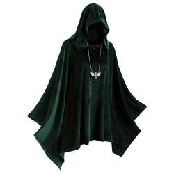 Eternali Unisex Halloween Erwachsener Samt Hoodie Umhang Vampire Devil Hexe Cosplay Kostüm mit Kapuze Cape Herren Damen Doppelseitig Festliche Party Hooded Mantel Maske Prom Dress Up Outwear von Eternali