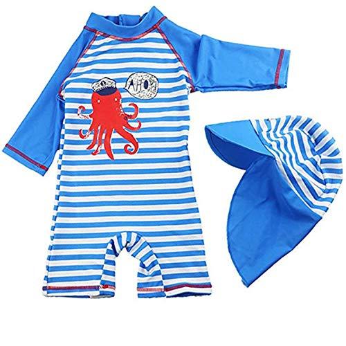 FAIRYRAIN Baby Kleinkinder M/ädchen 2er Bade-Set Anker Print Lange /Ärmel Bademode Schwimmanzug Rash Guard UV-Schutz 50+