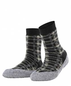 FALKE Damen Cosyshoe Checked W HP Hausschuh-Socken, Grau (Anthracite Mel. 3082), 41-42 (UK 7-8 Ι US 9.5-10.5) von FALKE