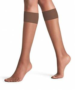 FALKE Damen Shelina 12 DEN W KH Kniestrümpfe-Ultra Transparent, Braun (Coffee 5309), 35-38 (UK 2.5-5 Ι US 5-7.5) von FALKE