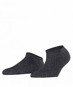 FALKE Damen Shiny W SN Sneakersocken, Blau (Dark Navy 6370), 35-38 von FALKE