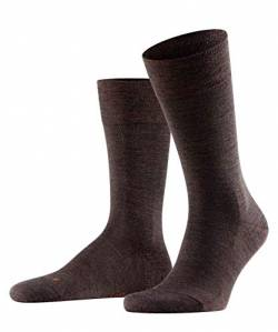 FALKE Herren Socken Sensitive Berlin, Merinowolle Baumwolle, 1 Paar, Braun (Dark Brown 5450), 43-46 (UK 8.5-11 Ι US 9.5-12) von FALKE