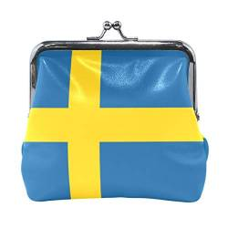 FANTAZIO Damen Geldbörse Change Purse Clasp Flag Of Sweden Walllet von FANTAZIO