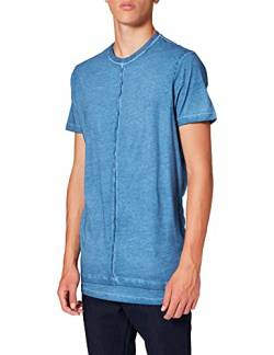 Amazon-Marke: find. Herren T-Shirt mit Rundhals, Blau (Blue), L, Label: L von find.