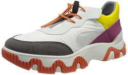 FLY London Damen FIAN634FLY Sneaker, Offwhite Yellow Fuchsia, 41 EU von FLY London