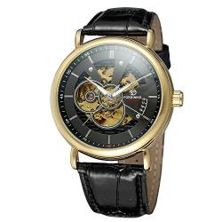 FORSINING Men's Automatic Movement Leather Strap Analog Skeleton Fashion Casual Watch FSG8133M3G2 von FORSINING
