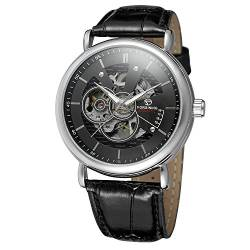 FORSINING Men's Automatic Movement Leather Strap Analog Skeleton Fashion Casual Watch FSG8133M3S2 von FORSINING