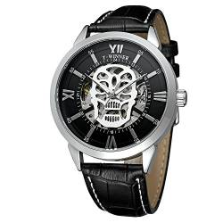 Forsining Men's Automatic Skeleton Analog Display Wristwatch with Leather Strap WRG8141M3S1 von FORSINING