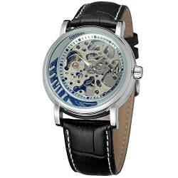 FORSINING Men's Automatic Self-Wind Skeleton Dial Analogue Watch with Leather Strap FSG8121M3S1 von FORSINING