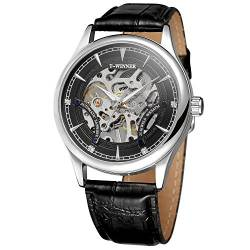 FORSINING Men's Mechanical Hand-Wind Movt Skeleton Leather Strap Analog Crystal Watch WRG8149M3S3 von FORSINING
